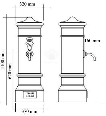 Misure fontana Roma